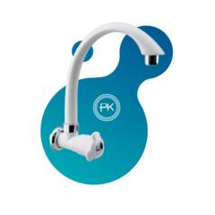WT0039-7KAVCTM-6 Vòi rửa chén cao cấp âm tường  trắng chrome (katana)