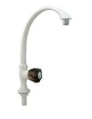 WT005M-7CSVCTT-1 Vòi rửa chén âm chậu tay vặn trắng than